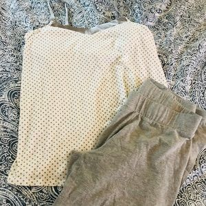 Motherhood gray polka dot Pajama set